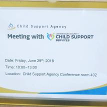 LA Child Support Services Department와의 간담회